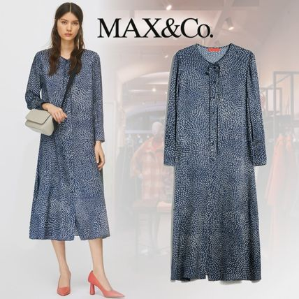 Max&Co. Casual Style Long Sleeves Medium Office Style Shirt Dresses