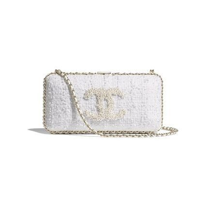 CHANEL Casual Style Chain Plain Party Style Elegant Style