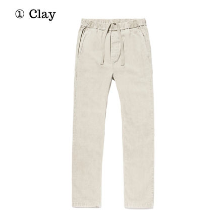 Tapered Pants Corduroy Blended Fabrics Street Style Plain