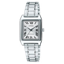 CASIO Casual Style Leather Metal Square Party Style Quartz Watches