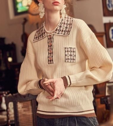 VITAL SIGN Cable Knit Long Sleeves Street Style Elegant Style Sweaters
