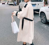 Casual Style Bi-color Office Style Elegant Style Wrap Coats