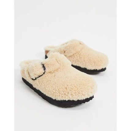 Plain Toe Casual Style Leather Footbed Sandals Sabo Slippers