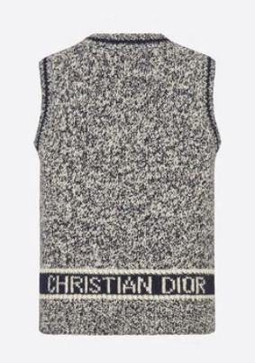 Christian Dior Casual Style Wool Cashmere Blended Fabrics Sleeveless