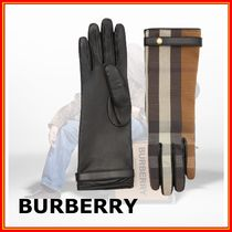 Burberry Other Plaid Patterns Cashmere Leather