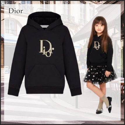Christian Dior DIOR OBLIQUE Long Sleeves Cotton Logo Hoodies & Sweatshirts