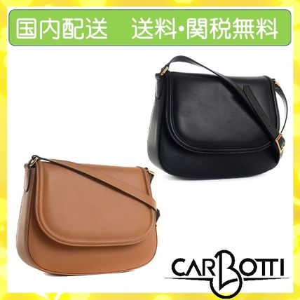 Casual Style Calfskin 2WAY Leather Party Style Office Style
