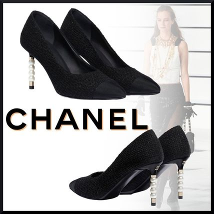 CHANEL Casual Style Tweed Plain Party Style Elegant Style