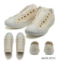 CONVERSE ALL STAR Unisex Plain Eco Fur Shearling Sneakers