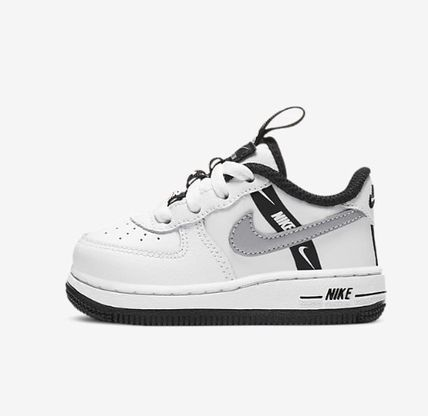 Nike AIR FORCE 1 Street Style Icy Color Baby Girl Shoes