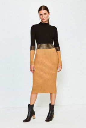 Tight Long Sleeves Plain Medium Party Style Office Style