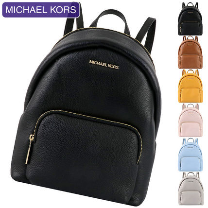 Michael Kors Plain Leather Backpacks