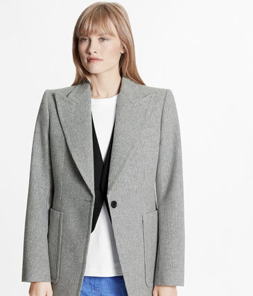Louis Vuitton Long Striped Single-Breasted Blazer Jacket
