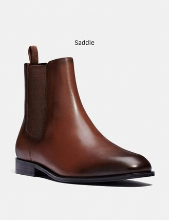 Coach Street Style Plain Leather Chelsea Boots Chelsea Boots