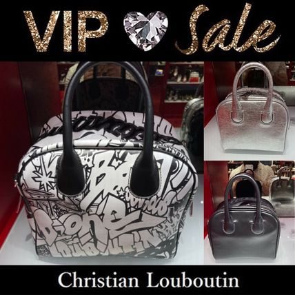 Christian Louboutin Casual Style Blended Fabrics 2WAY Plain Leather Party Style