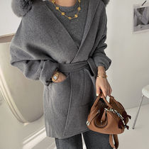Casual Style Wool Fur Blended Fabrics Street Style Plain