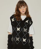 LUV IS TRUE Argile Casual Style Street Style Oversized Vests