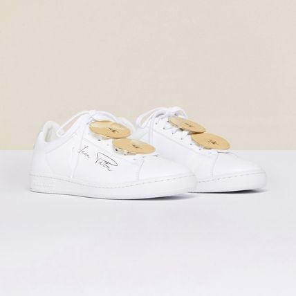 Street Style Collaboration Plain Logo Low-Top Sneakers