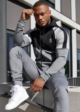 Pullovers Street Style Long Sleeves Plain Logo Workout