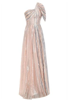 Peter Pilotto Stripes Long Metallic Dresses