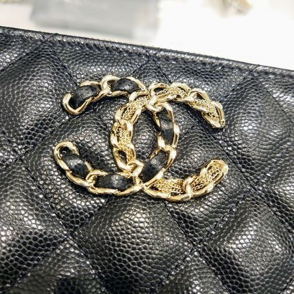 CHANEL Casual Style Calfskin Plain Leather Party Style Office Style
