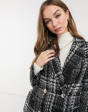 ASOS Other Plaid Patterns Casual Style Medium Office Style Coats