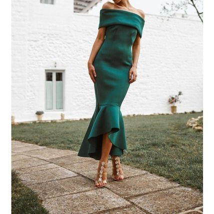Tight Flared Plain Party Style Elegant Style Formal Style