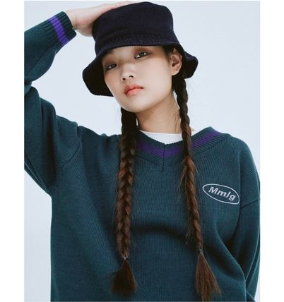 87MM Sweaters Unisex Street Style Long Sleeves Cotton Logo Sweaters 3