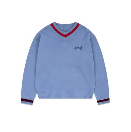 87MM Sweaters Unisex Street Style Long Sleeves Cotton Logo Sweaters 7
