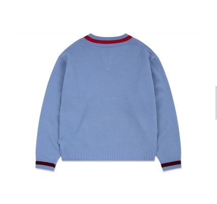 87MM Sweaters Unisex Street Style Long Sleeves Cotton Logo Sweaters 8