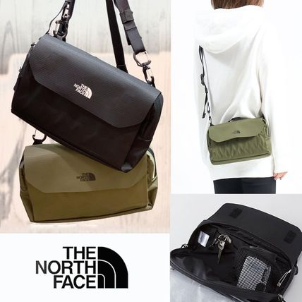 THE NORTH FACE Unisex Nylon 2WAY Plain Small Shoulder Bag Logo