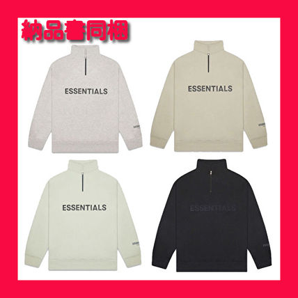 FEAR OF GOD Sweatshirts Pullovers Unisex Street Style Long Sleeves Plain Cotton