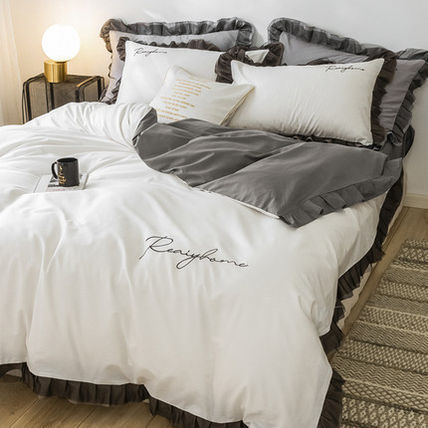 Plain Duvet Covers Pillowcases Bad Skirts Fitted Sheets