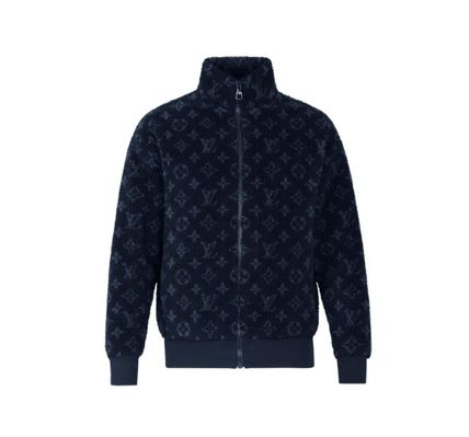 Louis Vuitton MONOGRAM Short Monogram Street Style Logo Fleece Jackets Jackets