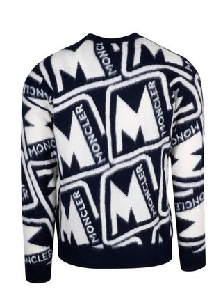 MONCLER Sweaters Wool Blended Fabrics Street Style Long Sleeves Sweaters 3