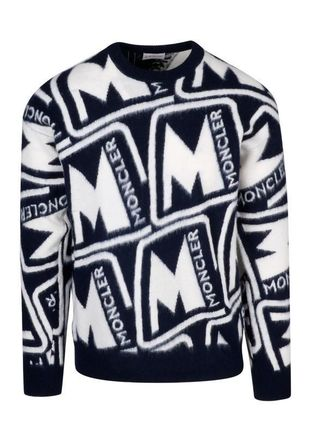 MONCLER Sweaters Wool Blended Fabrics Street Style Long Sleeves Sweaters 4