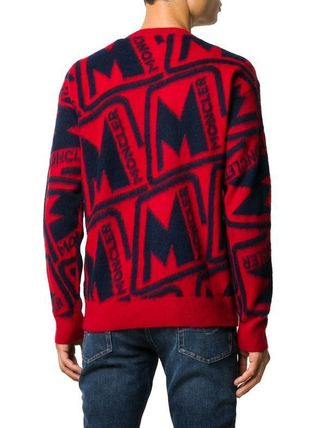MONCLER Sweaters Wool Blended Fabrics Street Style Long Sleeves Sweaters 8