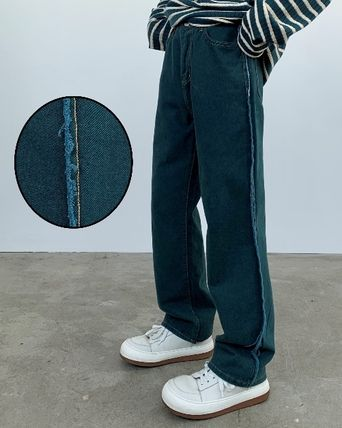 Slax Pants Denim Street Style Collaboration Jeans