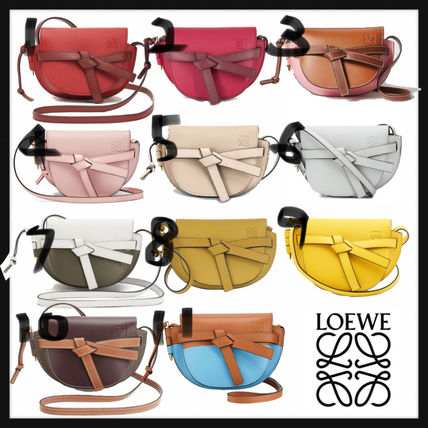 LOEWE GATE Crossbody Formal Style  Casual Style Calfskin 2WAY