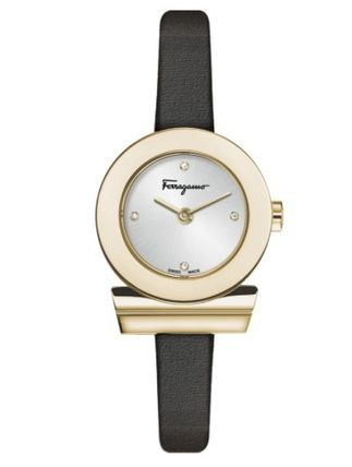 Salvatore Ferragamo Casual Style Leather Quartz Watches Stainless Office Style