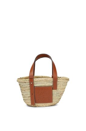 LOEWE Logo Plain Leather Straw Bags