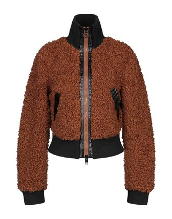 DIESEL Short Casual Style Fur Blended Fabrics Street Style Plain