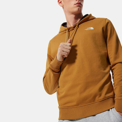 THE NORTH FACE Hoodies Street Style Long Sleeves Plain Cotton Logo Outdoor Hoodies 3