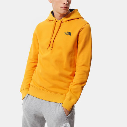 THE NORTH FACE Hoodies Street Style Long Sleeves Plain Cotton Logo Outdoor Hoodies 11
