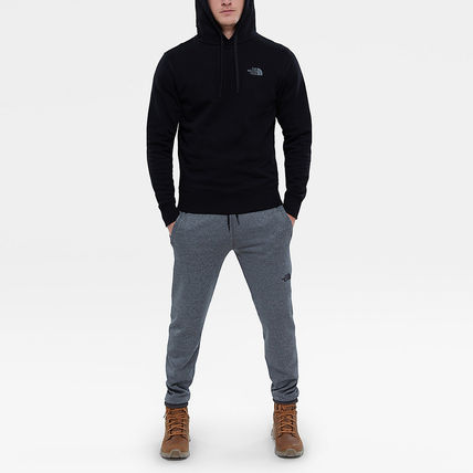 THE NORTH FACE Hoodies Street Style Long Sleeves Plain Cotton Logo Outdoor Hoodies 18