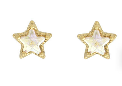 Star Casual Style Street Style Party Style Silver Brass