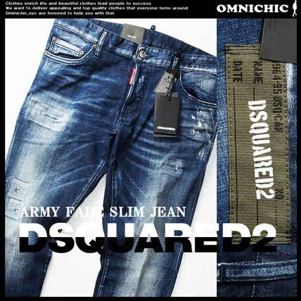 D SQUARED2 Tapered Pants Logo Skinny Jeans