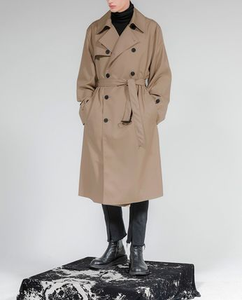 FLARE UP Trench Casual Style Unisex Street Style Trench Coats 3