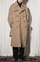 FLARE UP Trench Casual Style Unisex Street Style Trench Coats 14