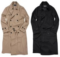 FLARE UP Trench Casual Style Unisex Street Style Trench Coats 15